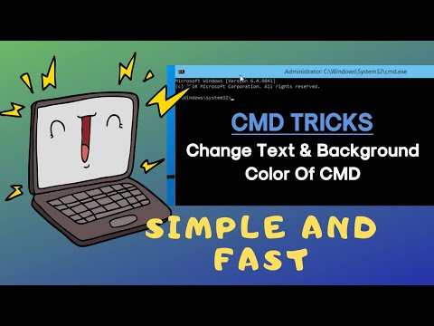 How To Change Your Font Color On CMD As Well As The Background To The Color Of Your Choice!!!