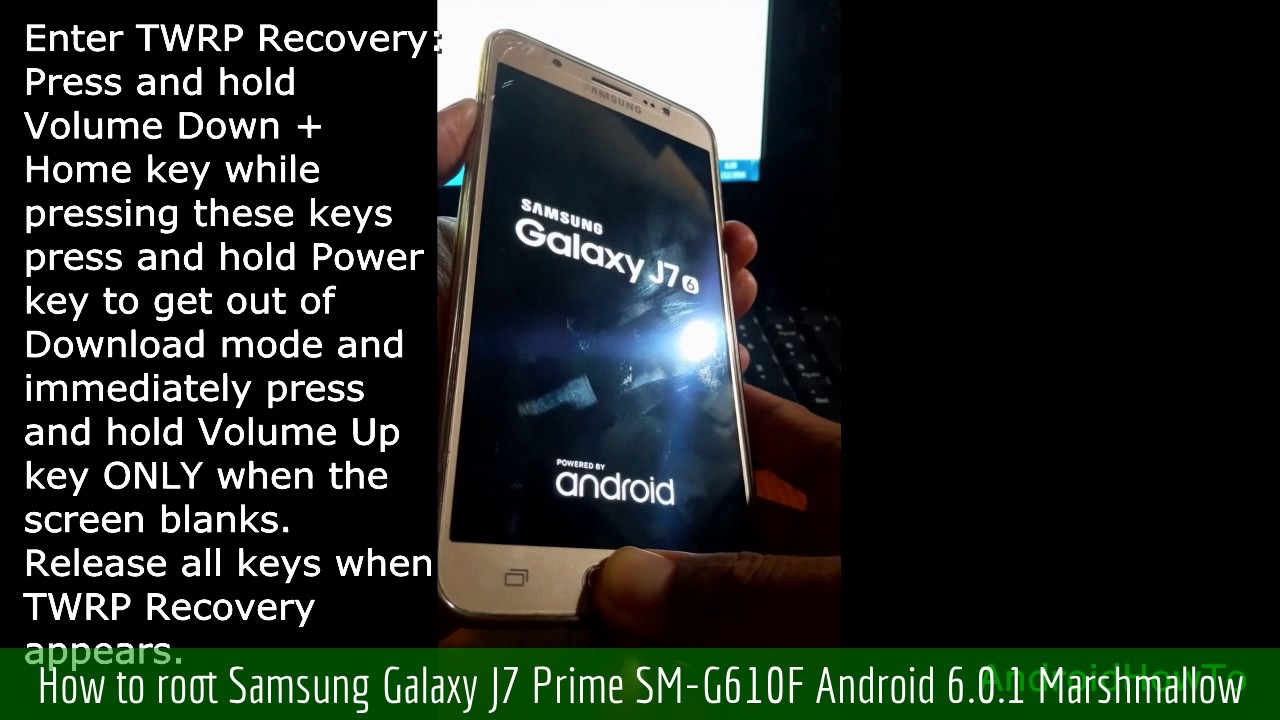 How to root Samsung Galaxy J7 Prime SM-G610F Android 6 0 1 Marshmallow