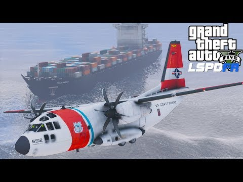 GTA 5 LSPDFR Coastal Callouts Action Packed Search & Rescue Mission With Coast Guard C-27J Airplane