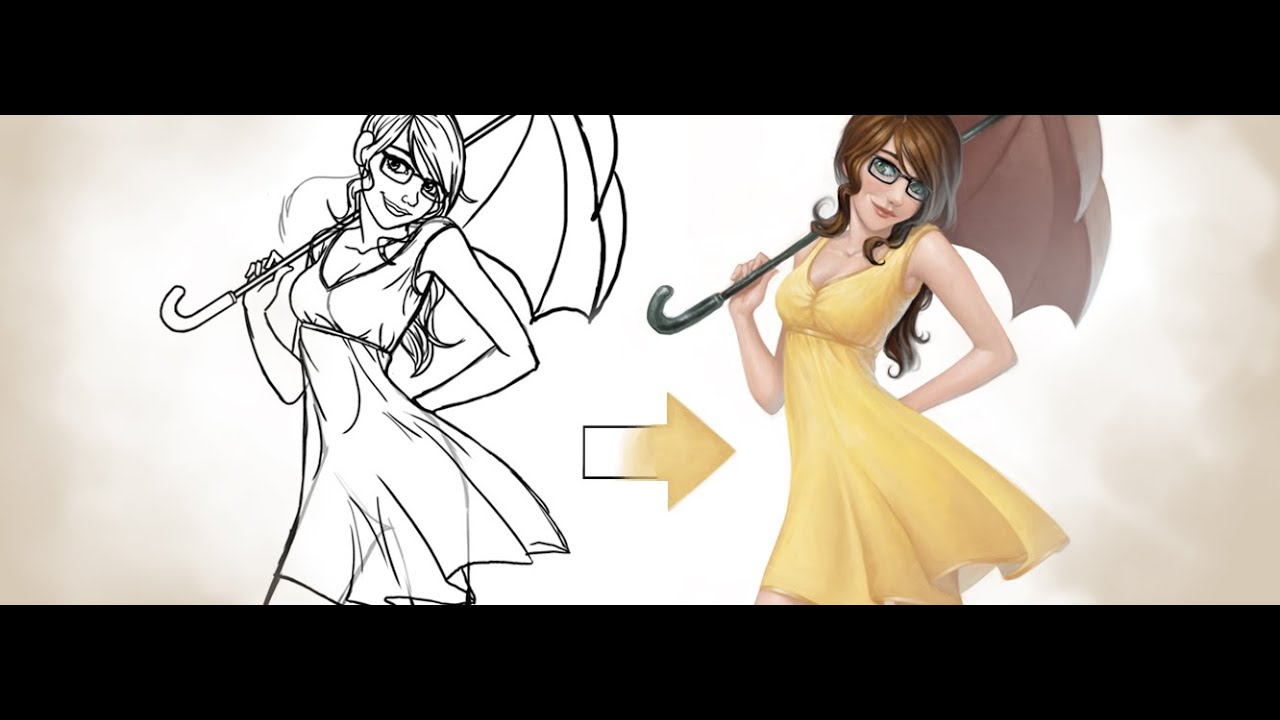 free tutorial coloring over your lineart youtube