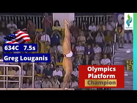 1988 Greg Louganis USA - handstand cut through