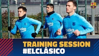 First training session to prepare El Clásico in the Copa del Rey