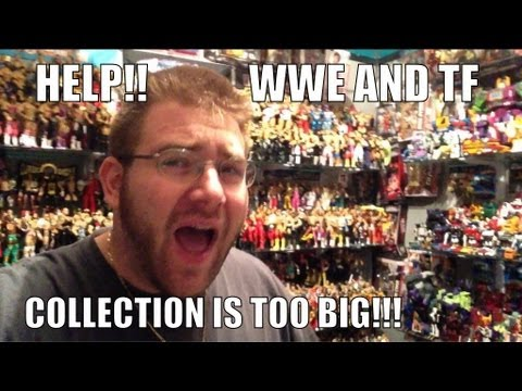 TOY COLLECTION is now TOO BIG!! To many WWE wrestling and Transformers figures HUGE problem!