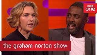 Idris Elba told Kate Winslet to keep her socks on during a sex scene - The Graham Norton Show 2017