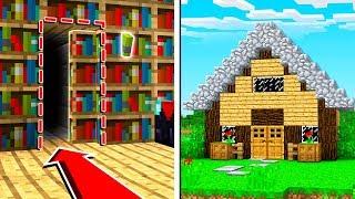 Minecraft: How to Build A SUPER Secret Base Tutorial - (Hidden House)