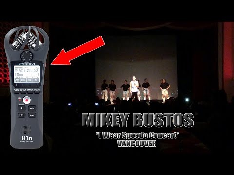 "Mikey Bustos ""I Wear Speedo"" Concert in Vancouver (ZOOM H1n Recorder, Aspen Mics, iPhone X) [4K]"