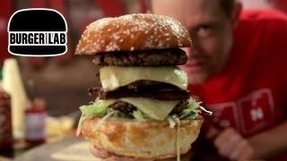 July 4th Triple Decker Cheeseburger - Burger Lab