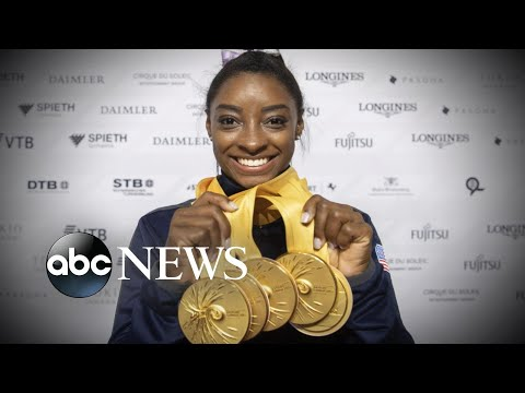 Simone Biles makes history at world championships  ABC News