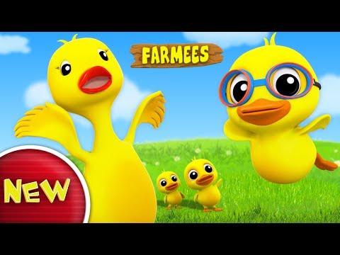 Duckling Duckling Yes Mama | Nursery Rhymes | Kids Songs | Children Rhymes by Farmees