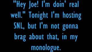 Lyrics-Monologue Song (La La La)-Taylor Swift