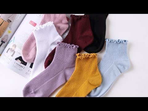 [VIDEO] - Fashion Lace Ruffles Soft Cotton Winter Cute Socks | Best Ruffle Socks 2020 2