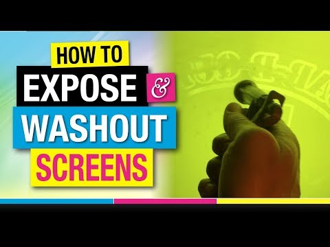 How to Expose and Washout Screens for Screen Printing T-Shirts