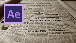 After Effects: Create a Video to Newspaper Front-Page Transition Effect