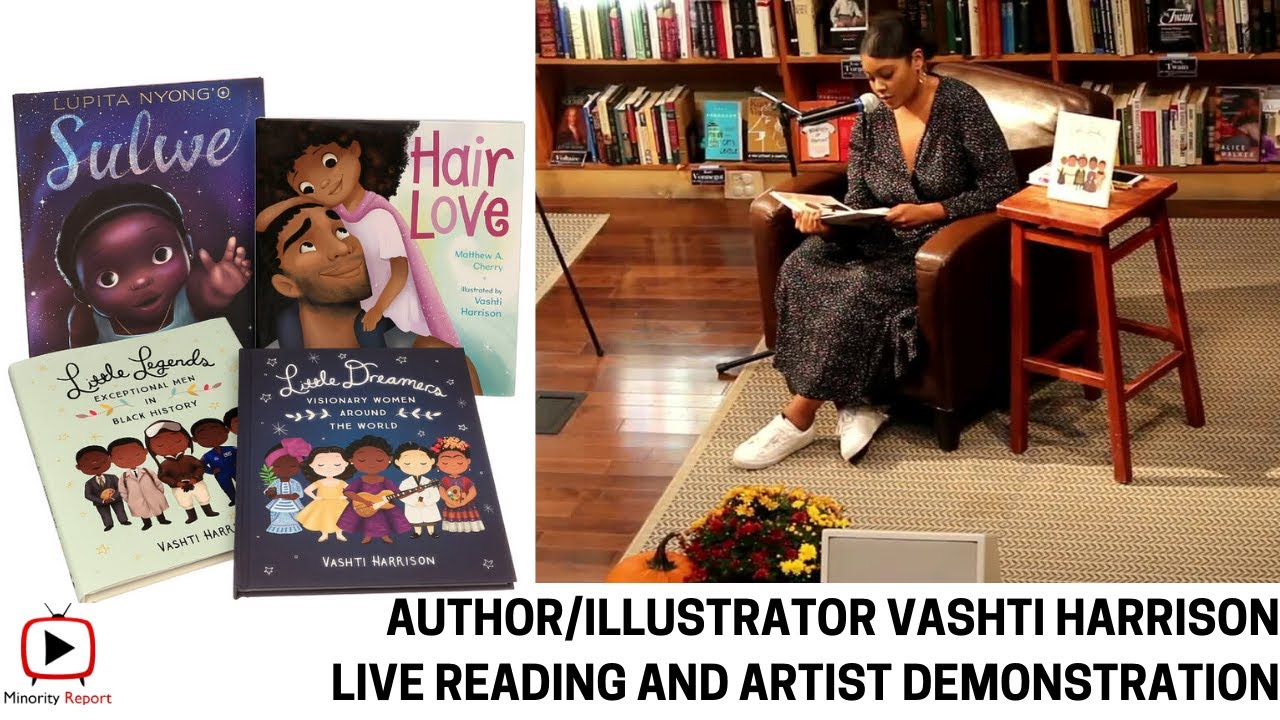 Author, Illustrator Vashti Harrison LIVE Reading and Illustration