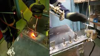 Conventional Welding vs Stud Welding of Floating Anchors.