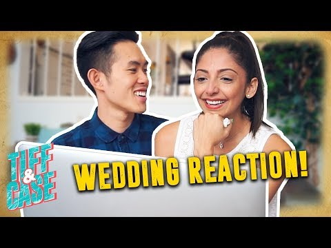 WIFE REACTS TO WEDDING VIDEO (Wedding Day Stories)