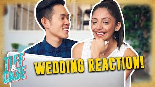 WIFE REACTS TO WEDDING VIDEO (Wedding Day Stories) thumbnail