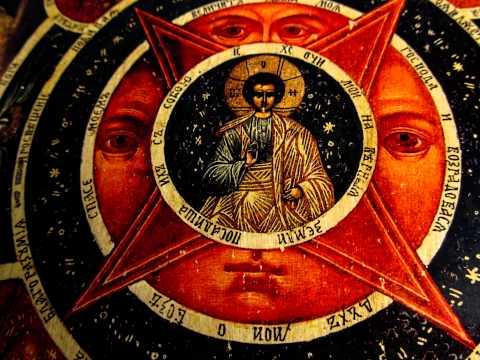 Икона на левкасе Всевидящее око Божие