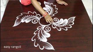 haw to draw easy and creative free hand rangoli designs * simple kolam * daily muggulu without dots