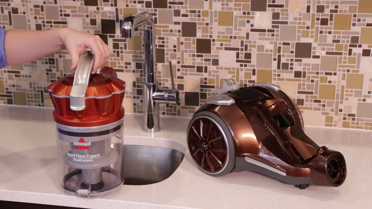 hard floor expert canister vacuum - how to clean the filter 1547