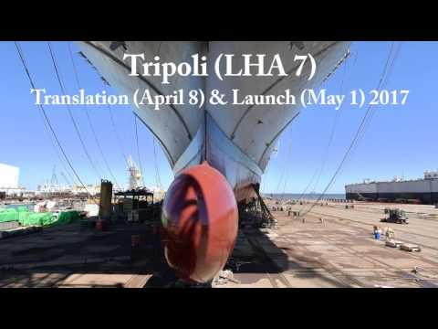 Tripoli (LHA 7) Launched at Ingalls Shipbuilding