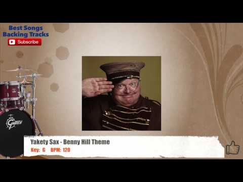 Yakety Sax - Benny Hill Theme Drums Backing Track