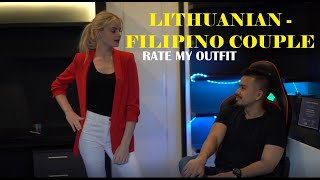 Lithuanian - Filipino couple. Rate my outfit vlog!