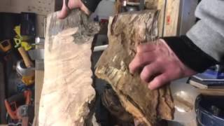 Master carpenter shows how to create things out of stumps