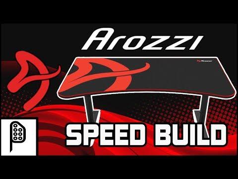 Arozzi Arena Gaming Desk Speed Build