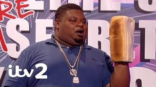 Celebrity Juice | Big Narstie the Bread Ventriloquist | Challenges and Games Funniest Bits! | ITV2