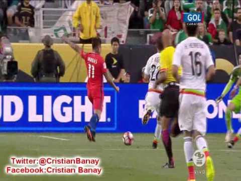Chile 7 Mexico 0  (Caracol Tv) Copa America Centenario 2016