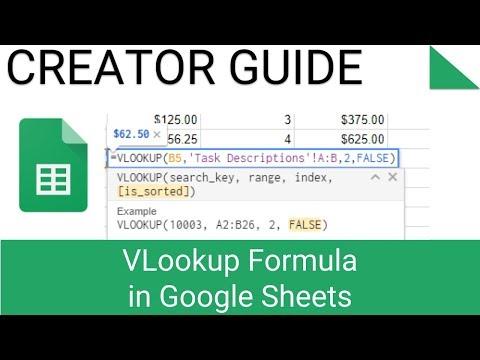 VLookup Formula In Google Sheets