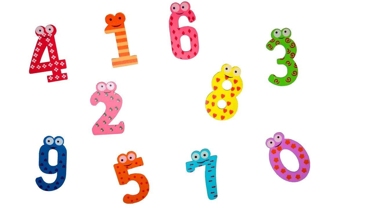 Веселые цифры в картинках для детей от 1 до 10