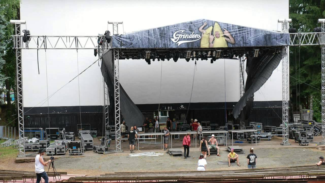 Obscene Extreme 2015 Stage Building Time Lapse Video