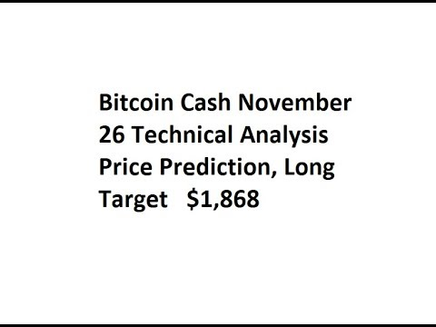 Bitcoin Cash November 26 Technical Analysis Price Prediction, Long Target   $1,868