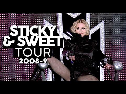 Madonna aos 50 anos alegre e de volta ao Brasil  STICKY & SWEET TOUR -9 Shows da Madonna