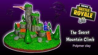 THE SECRET MOUNTAIN CLIMB | FORTNITE | DIORAMA | Polymer Clay Tutorial