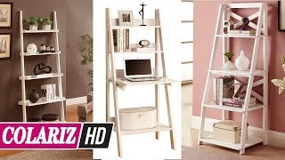 MUST SEE! 60 Stylish Ladder Shelf White You Must Watch For Inspiration