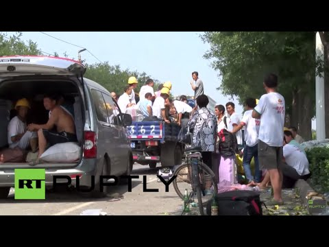China: Deadly blasts leave hundreds of Tianjin residents displaced