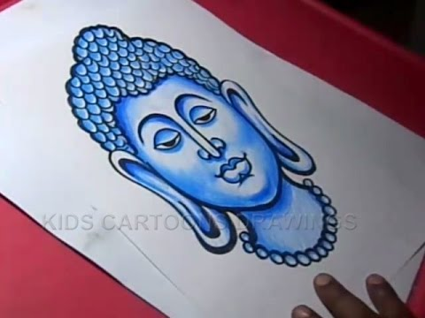 How To Draw Lord Gautama Buddha Drawing Step By Step Youtube