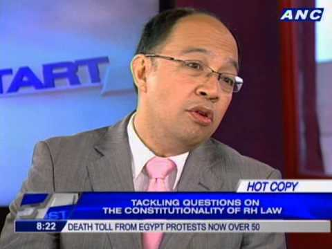 Tackling questions on the constitutionality of RH law