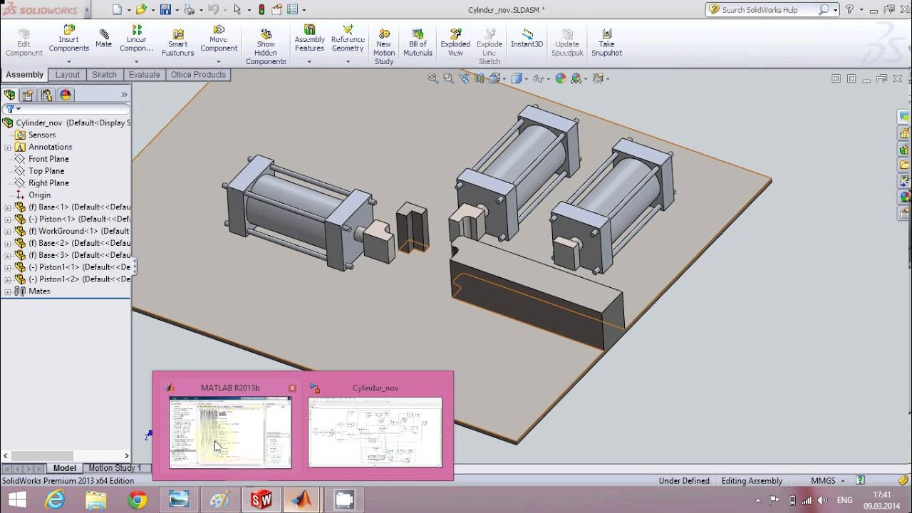 Solidworks and Matlab / Simulink simulation Tutorial