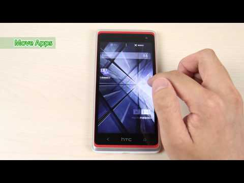 How to reorganize and remove page and apps on HTC Desire 600 dual sim