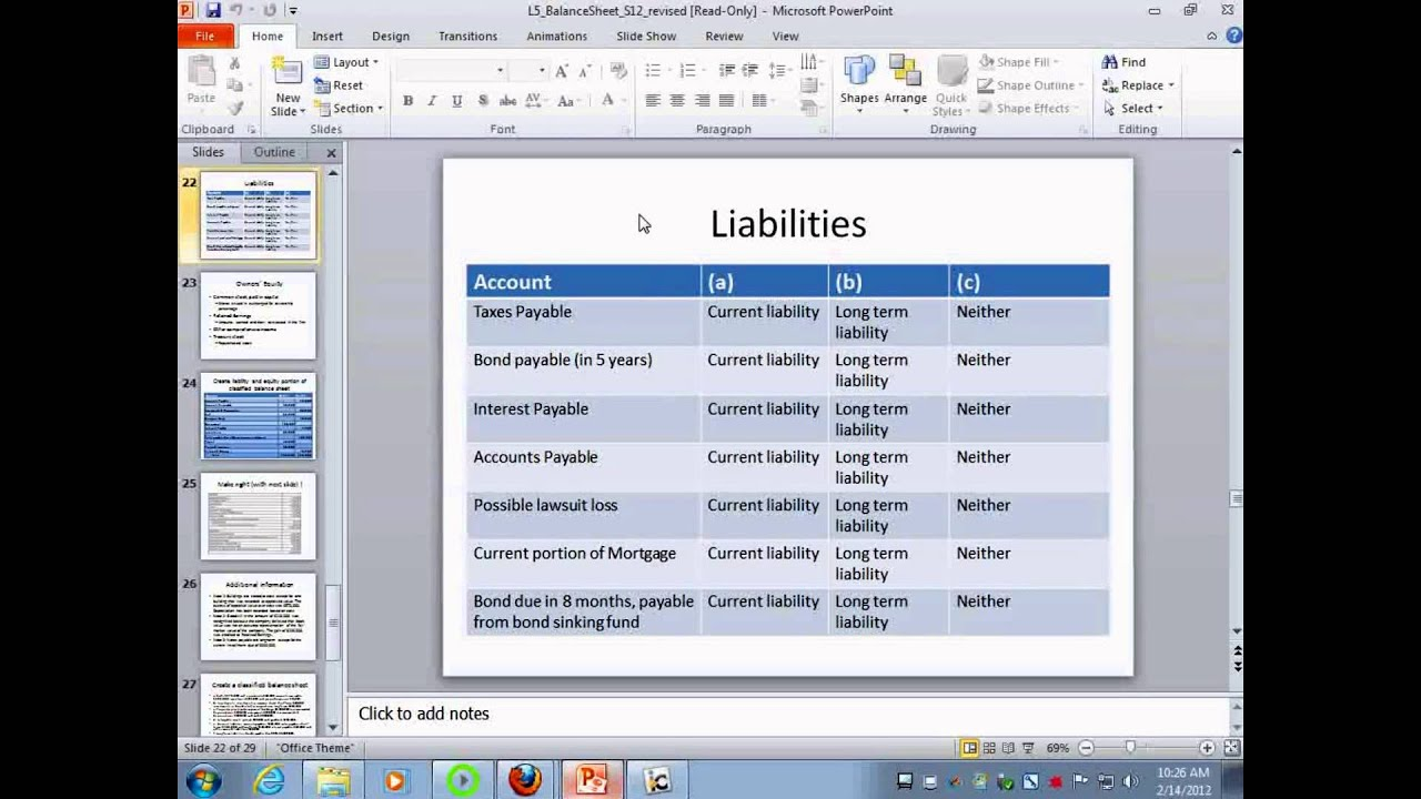 balance sheet ii intermediate accounting i lecture 6 youtube