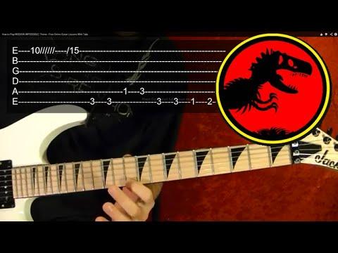 Jurassic Park Theme Guitar Lesson Youtube