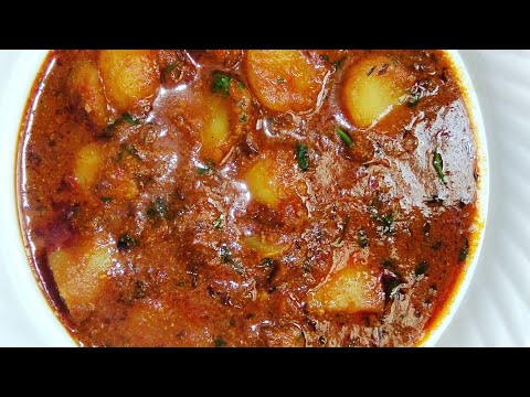 Spicy Aloo Curry For Chapati/rice @The Chillies World