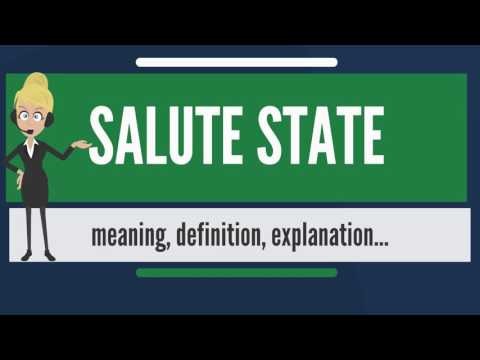 What is SALUTE STATE? What does SALUTE STATE mean? SALUTE STATE meaning, definition & explanation