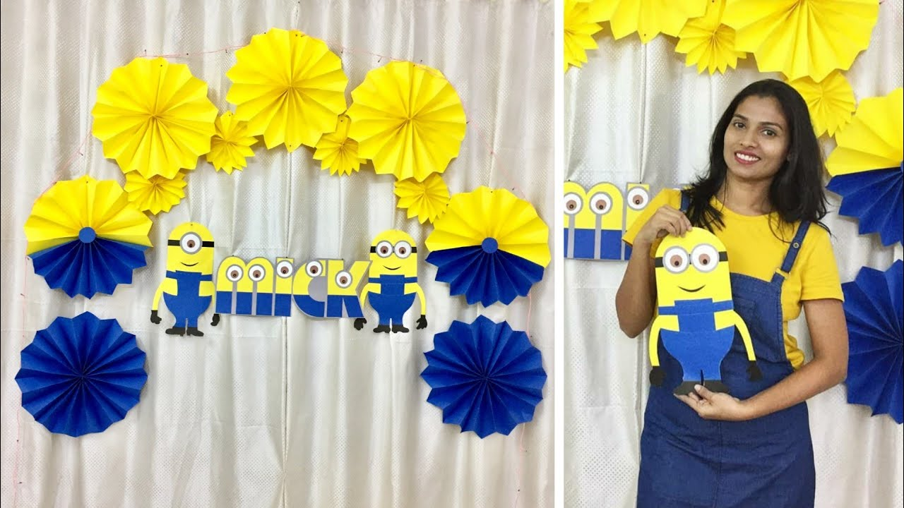 Easy Birthday Party Decoration Ideas At Home Minion Theme Party Ideas At Home Youtube