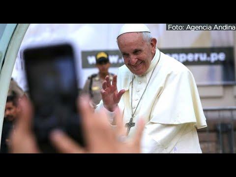 Papa Francisco causó furor durante su recorrido por el Centro de Lima