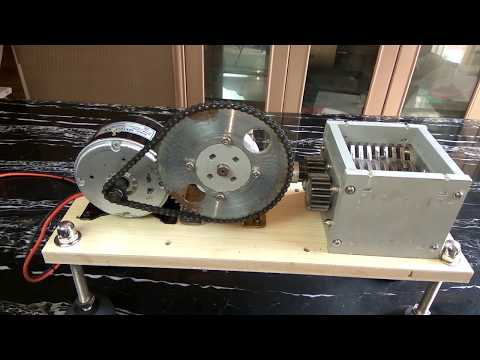 home make mini shredding Part 2 ,250W DC motor Recycling 3D printing plastic